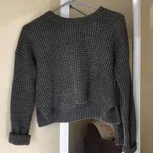 Forever 21 grey cropped sweater size S
